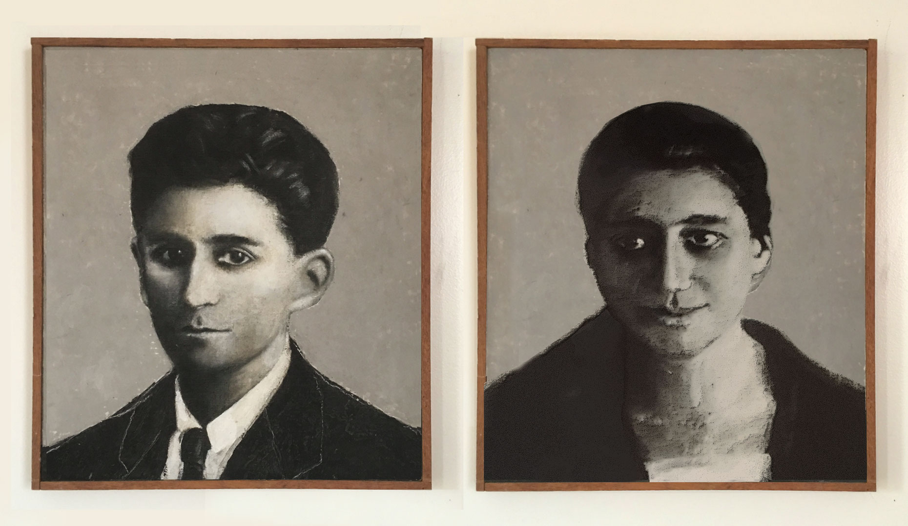 Dyptich: Franz and Ottla Kafka, 1999